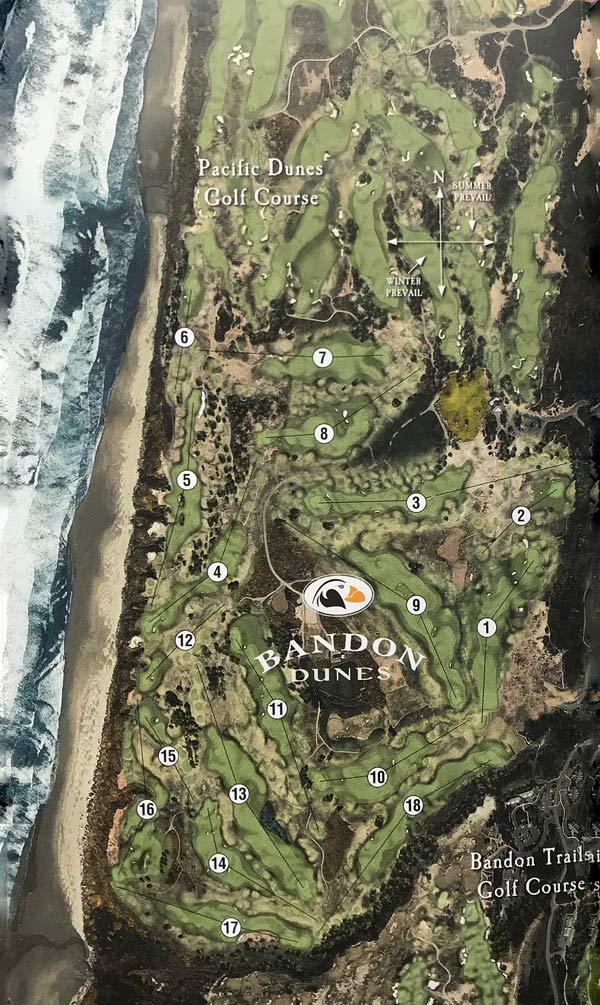 Bandon Dunes Oregon Map.Bandon Dunes Bandon Dunes Golf